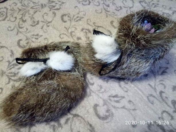 Сапожки-пинетки норковые 12 см 300₽