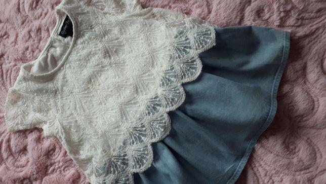 Śliczna tunika/bluzeczka Cynthia Rowley 92cm (1-2 latka z metki)