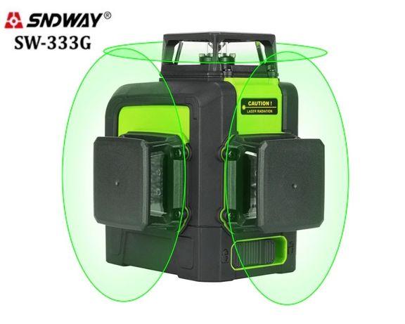 Лазерный уровень/лазерный нивелир БИРЮЗОВЫЙ ЛУЧ Sndway SW-333G