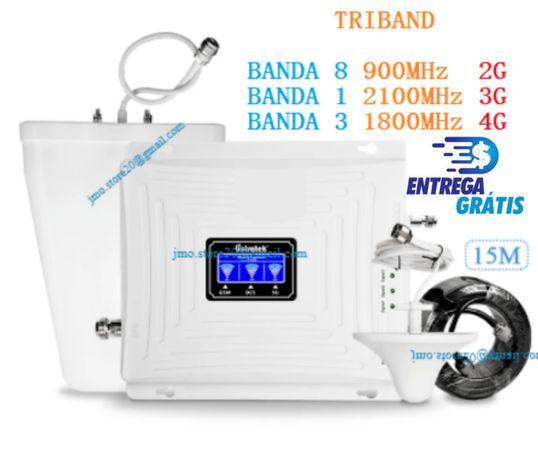 2G, 3G, 4G Amplificador/Repetidor sinal rede telemóvel GSM LTE