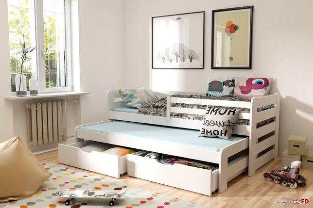 Dwuosobowe łóżko HAPPY z materacami w zestawie!