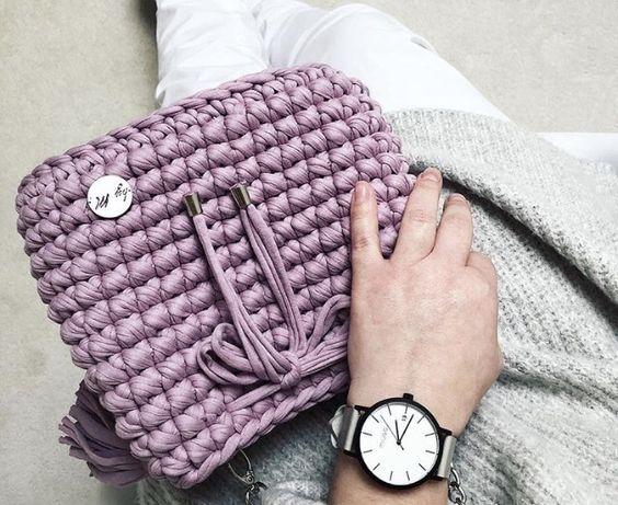 Torebka na ramię ze sznurka cotton bag by M. BAGS BY M