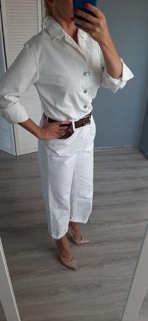 Nowy kombinezon marki zara biały proste nogawki s