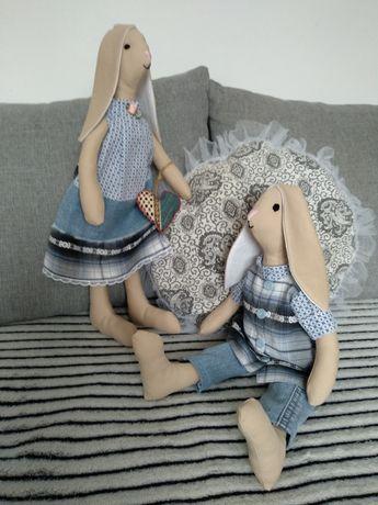 Królik króliczek zajączek Tilda lalka przytulanka rękodzieło zabawka