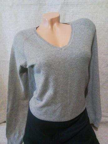 Джемпер свитер реглан серый базовый полувер ZARA светр светрик