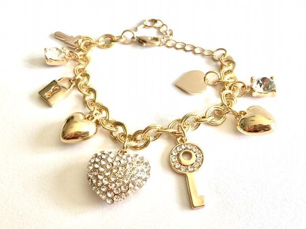 Zlota damska bransoleta włoski styl•zlocona ogniowo 0.585 14 K