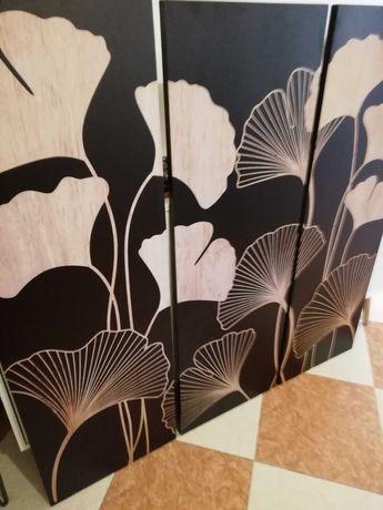 Vendo conjunto 3 quadros decorativos