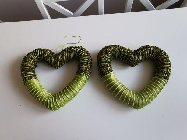 Serca zielone love ozdoby