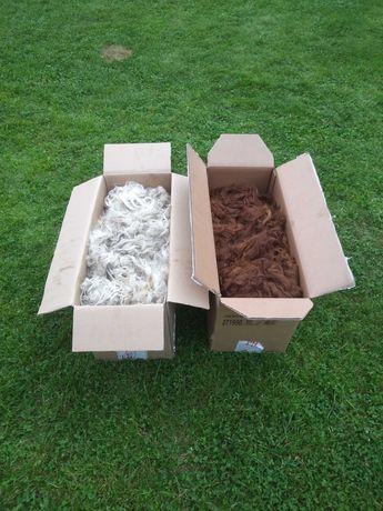 Wełna z alpak po strzyży, runo alpaki