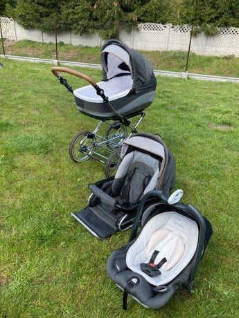 Wózek Roan 3w1 Gondola, spacerówka, nosidełko
