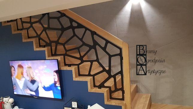 Panel balustrada barierka wycinana ażurowa wypełnienie z blachy laser