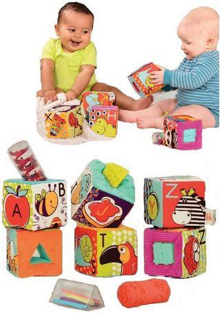 B.Toys Klocki duże materiałowe z sorterami kształtów sensoryczne