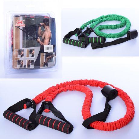 Эспандер для тренировок MS2809 120см,ткань,резина,сопротивление,2ручки