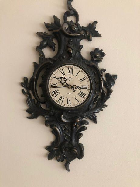 zegar ścienny - mosiężny