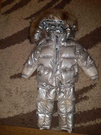 Зимний комбинезон Moncler. Курточка и штаны, натуральный пух