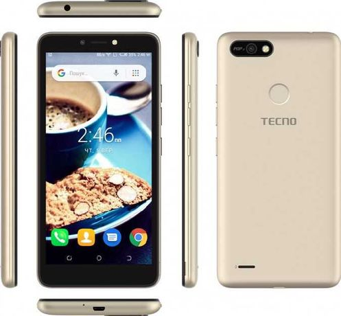 "Смартфон недорогой Tecno POP 2F 5,5"" 1/16Gb со сканером отпечатков"