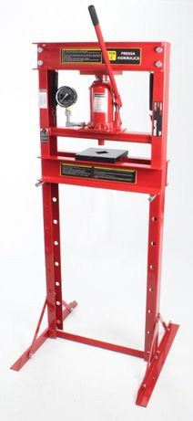 Prensa Hidráulica com Manómetro - 20 Toneladas
