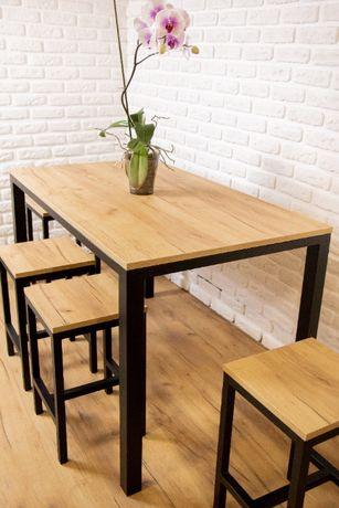 Комплект кухонний стіл + 4 стільця лофт, комплект обеденный,стол стуль