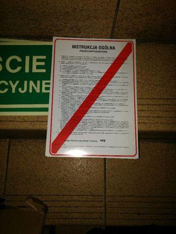 Nowe tablice wyjście ewakuacyjne p.pożarowa cena-5szt