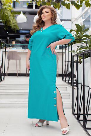 Платье в пол большого размера 00019