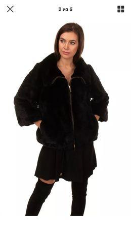 Бомбер Anna Rachele Италия куртка полушубок натуральный мех шуба