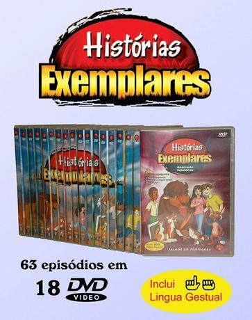 Histórias Exemplares - 18 DVD educação infantil- língua gestual -NOVOS