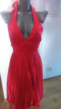 Czerwona sukienka r.36 wesele studniówka