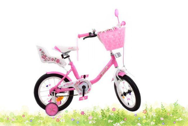 Продам велосипед для девочки, 14 дюймов, много дополнительных опций