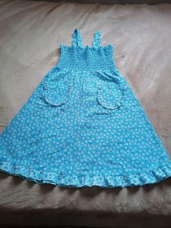 Vestido vintage verão lindo azul