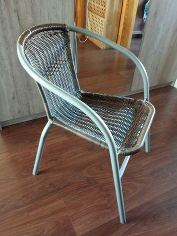 Krzesło balkonowe na taras ogród rattan działka balkon plecione