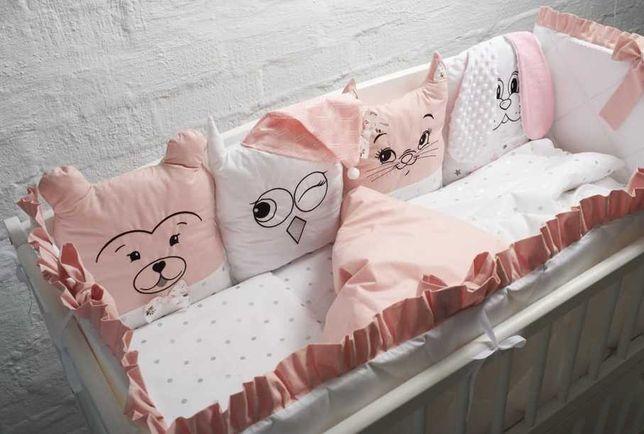 Бортик в ліжечко Набори Комплекти Постілька