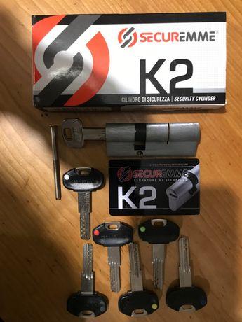 Cilindro fechadura Securemme K2 30-50