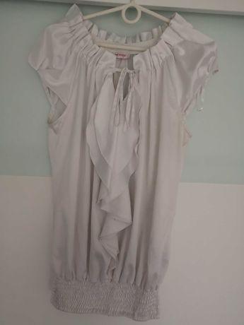 Biała bluzka atlas orsay