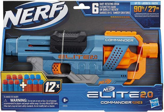Бластер Нёрф Элит, NERF Elite 2.0 Commander RD-6 Blaster, Оригинал