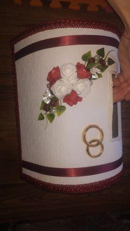 Корзина на гроші на весілля коробка на перепій