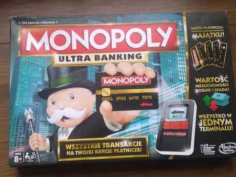 Hasbro Gra Monopoly ultra banking.oryginalna. Kompletna.Terminal platn