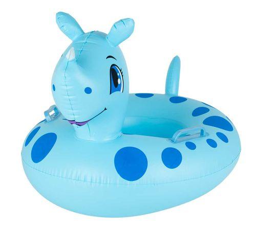 Koło dmuchane z siedziskiem dla dzieci materac ponton nosorożec