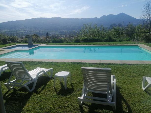 Casa de férias,com piscina privada e wi-fi disponível.