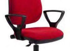 Cadeira rodada costa Média revestida a tecido ou pele sintética Nova