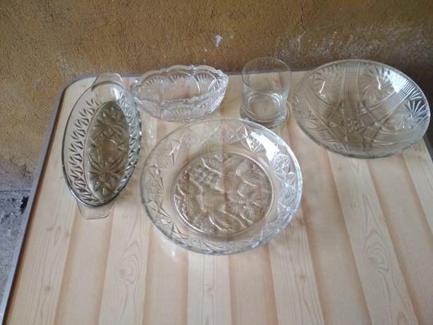 Misy, wazy, patery kryształowe. Piękny kryształ, patera, misa, waza