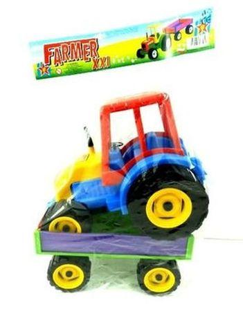 Zabawka traktor z przyczepą dla chłopców 6011