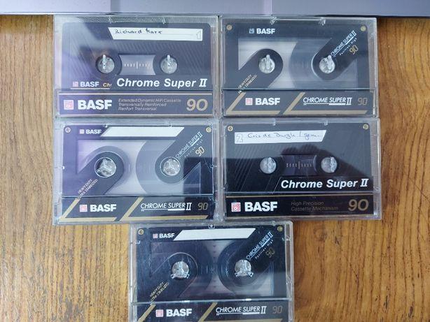 Kaseta BASF Chrome Super II 90, bdb, 5 szt