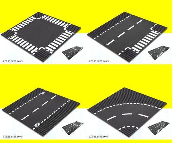 Пластина для LEGO, дорога 25х25 см