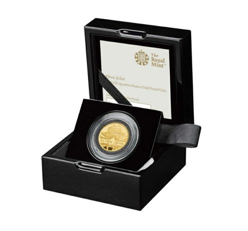 Elton John moeda ouro 25 Pounds 1/4 Onça Gold Proof