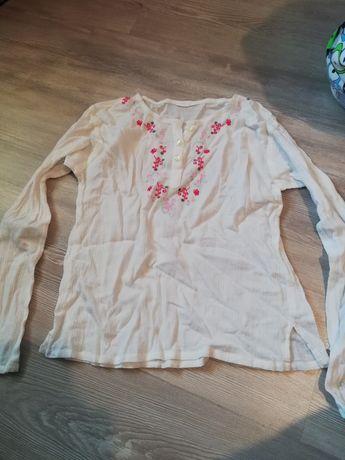 Bluzka biała dziewczęca 5-6lat