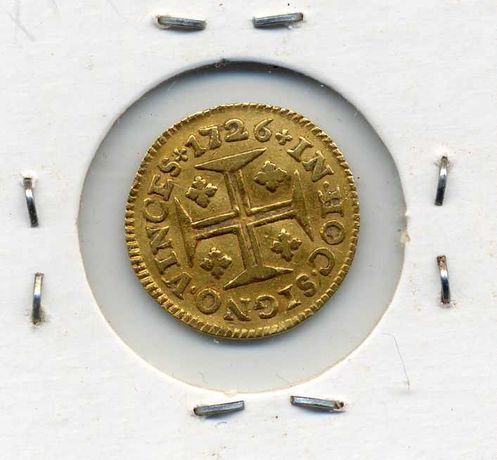 Moeda de ouro 1726 Pinto D. João V