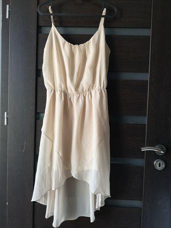Sukienka L kremowa