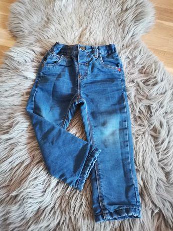 Ocieplane jeansy dziewczęce