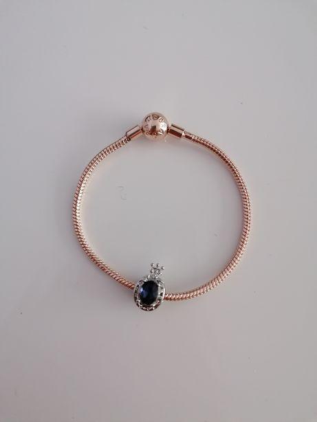 Bransoletka Pandora 18cm Gold Rose plus charms Pandora S925 ALE