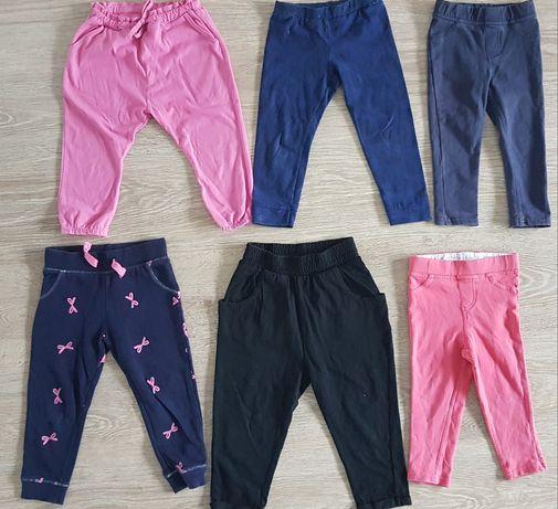 Next r.86 spodnie dresowe jeginsy zestaw